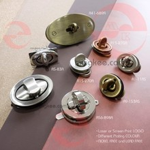 Antique Gold Parts Oval Lock Custom Metal Purse Clasp Hardware
