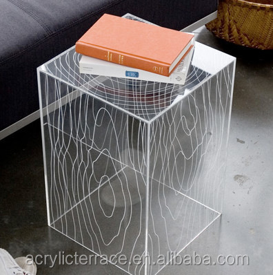 Exceptionnel ... Modern Acrylic Timber Cube Table, Clear 2011509204  2 ...