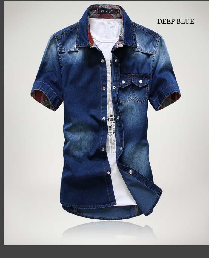 men short sleeve shirt big size 2