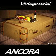 Antique decorative Wooden trunk,canvas trunk 1001
