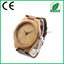 Hardened, Scratch-proof Mineral Glass Wooden Wristwatch with Genuine Leather
