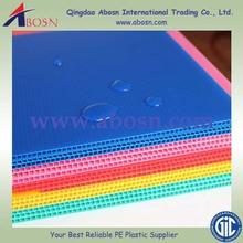 professional pp sheet manufacturer /abrasion resistant pp hollow sheet