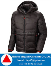 Brand mens waterproof added duck down and feather jacket