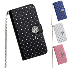 Ultra-thin PU Leather Case for iphone 6, New Diamond Bling Case Cover for iPhone 6, Wallet Card Flip Phone Skin for iphone 6
