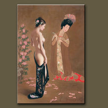 Hot sellHandmade chinese sexy nude girl photos on canvas
