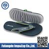2015 popular simple man pu flip flop with foam , eva slipper soles