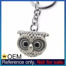 Wholesale Lucky Item Custom Silver Wisdom Owl Keychain