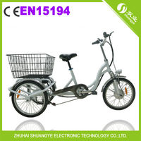 "20"" alloy frame 3 wheel electric bike tricycle for adults A2-5"