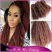 Hot Selling High Quality! #30 color synthetic cheap braids kinky twists marley braid hair