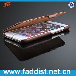 New arrival leather case for iphone 6, for iphone 6 case with genuine leather flip case