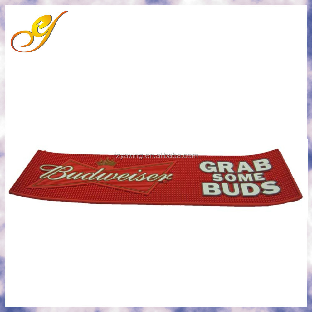 Newest Custom Rubber Pvc Bar Spill Logo Mat Buy Logo Bar