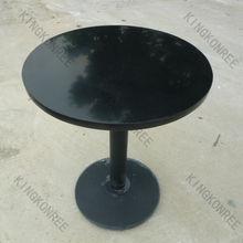 Base in acciaio inox tavolo da pranzo con nero in alto marbel, dia 600 rotondo superficie solida tavoli da pranzo e sedie