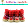 Fashionable pet shoes rubber sole dog shoes