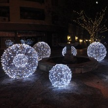 Outdoor christmas lighted ball