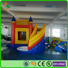 2015 new inflatable bouncy castle with water slide/ castle inflatable