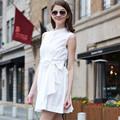 Veri hjl-c1076 gude verão o recém-coreano das mulheres da moda gola mandarim vestidos sem mangas