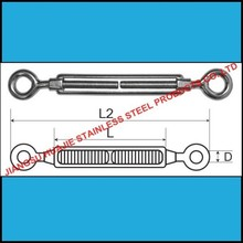 316/A4 Grade Stainless steel open body turnbuckle eye and eye