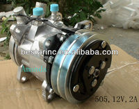 505 12V 2A Universal Sanden Auto Compressor for Car Air Conditioner