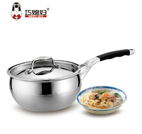 High quality stainless steel sauce pan, small cute pan