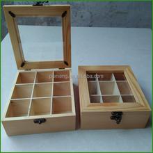 Christmas Gift Wood Tea Box With Window On Top