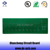 2015 low cost bare pcb great price aluminum pcb rigid green solder pcb at shenzhen fty