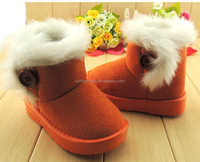 New Thicken Warm Plush Child Boots Shoes For Baby Toddler Shoes Winter Boys Girls Snow Boots Shoes Classical Kids Snow Boots