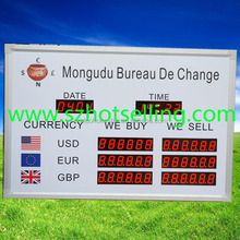 exchange rate display board \ 12 rows led electronic exchange rate board \ bank exchan / Exchange Rate / BT18-38H58LR / BABBITT