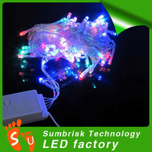 Factory price 10m 100led chasing christmas lights trade in lowes non led christmas light with 8 flash modes