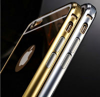 Acrylic Case For iPhone 6 Cell Mirror Phone Cases For Apple 6 Bumper Case Gold