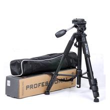 Zomei Z666 CE certificado profesional trípode de cámara video portátil 1.45m ligero de aluminio