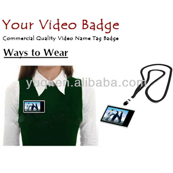 Wearable digital video badge