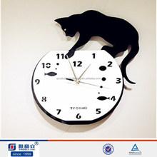 High quality animal design acrylic wall clocks funny designs