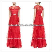 China fabricantes de ropa, rojo color de niza vestidos de noche para las mujeres embarazadas( ylq03309)