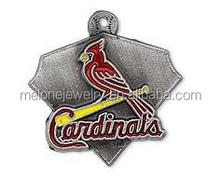 Popular MLB Team Logo Charms Alloy St. Louis Cardinals Baseball Charms