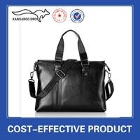 2015 wholesale on alibaba black leather branded bag for men