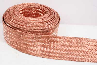 Electric Shieling Flat Flexible Bare Braided Copper Wire