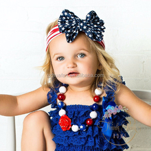 New American Flag Headband 4th of July USA Turban Stretch Headbands Bandana Turbante bow Hair Accessories