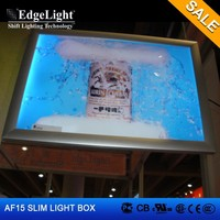 Edgelight AF15 aluminium profile led advertising board alibaba sign up