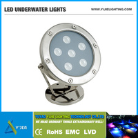 YJS-0001 IP68 waterproof stainess steel LED underwater light for dock & pond & boat & swimming pool & yacht