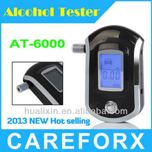 Wholesale - New Smart MCU control AT6000 Breath Alcohol Tester Alcohol Meter Analyzer Breathalyzer Alcoholmeter with LCD Display