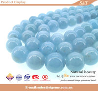 2015 Global jewelry market fashion trend natural aquamarine healing crystals and stones