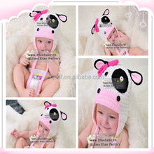 Free shipping hand knitted hats baby girl hat baby caps manufacture