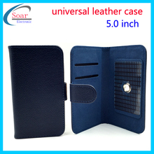 universal cell phone case for 5.0'' ,5.0'' mobile phone universial leather case