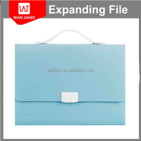 pure solid color high-grade pp stationary box file a4 size expanding file spring file