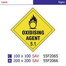 oxidising agent 5.1 warning and caution Signs for rigid pvc,pp board tags ,PVC sticers labels safety signs