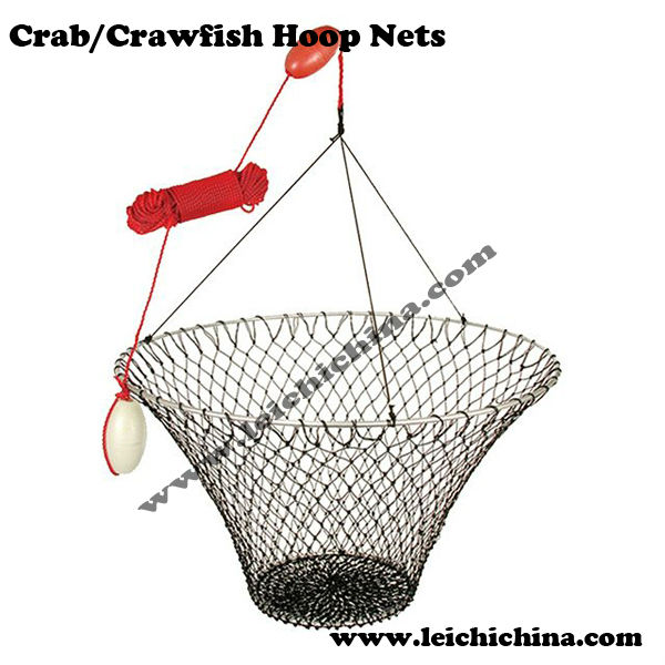 Wholesale hoop nets crab crawfish fishing nets view for Fishing hoop nets