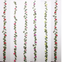 220 CM Long Artifical Flower Wall Hanging Garland Fake Azalea Flower Wholesale