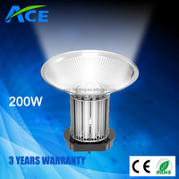 200w led high bay lights for industrial workshop lighting 3 years warranty