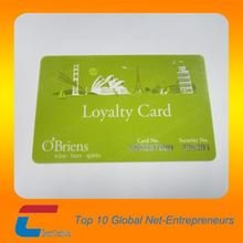 Embossed plastic VIP card with magnetic stripe