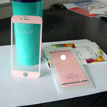 LUCK COLOR! anti-scratch ,0.26mm pure pink luck color tempered glass screen protector for mobile phone